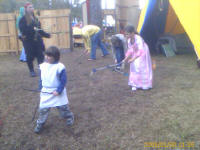 playing games at the faire